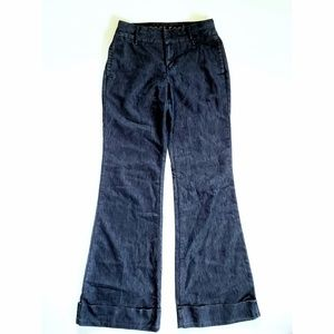 APOSTROPHE   Denim Wide Leg Cuffed Trousers
